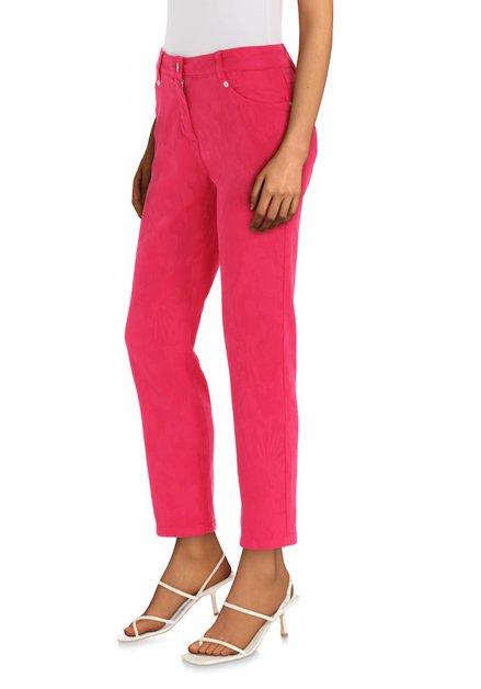 Pantalon rose avec texture – straight fit