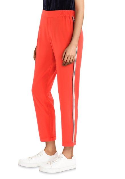 Pantalon rouge à bandes