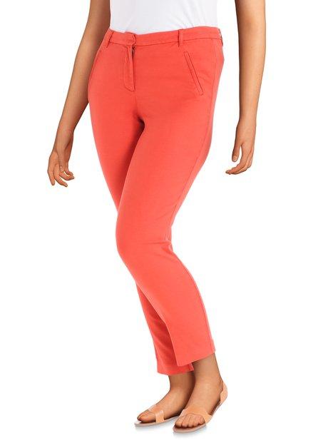 Pantalon rouge brique - slim fit
