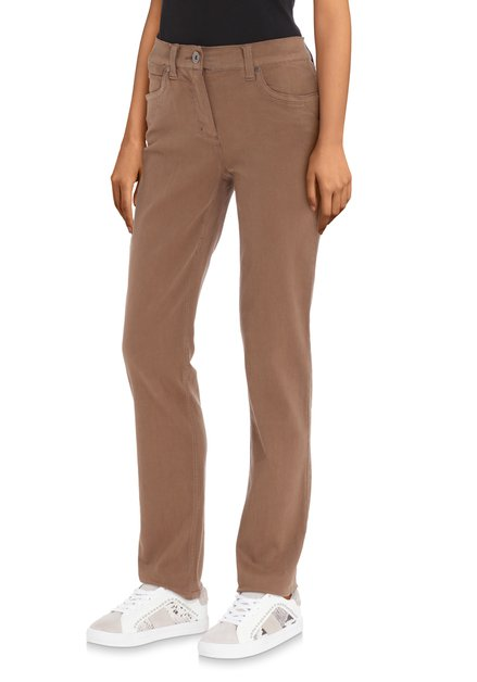 Pantalon stretch brun sable – slim fit