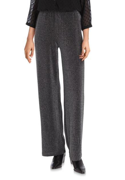Pantalon stretch noir avec lurex – straight fit