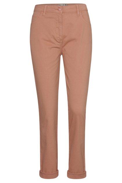 Pantalon terra cotta en coton stretch