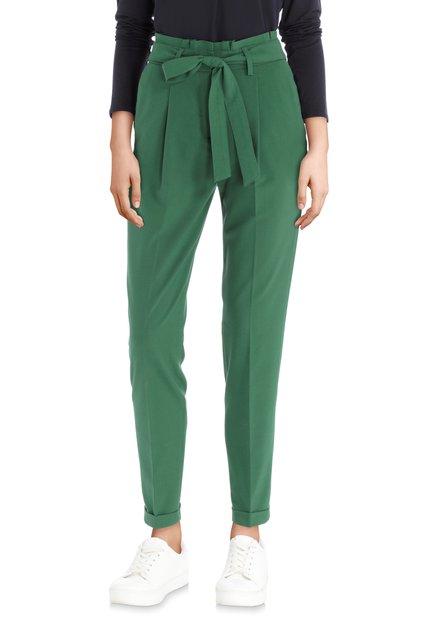 Pantalon vert à pli