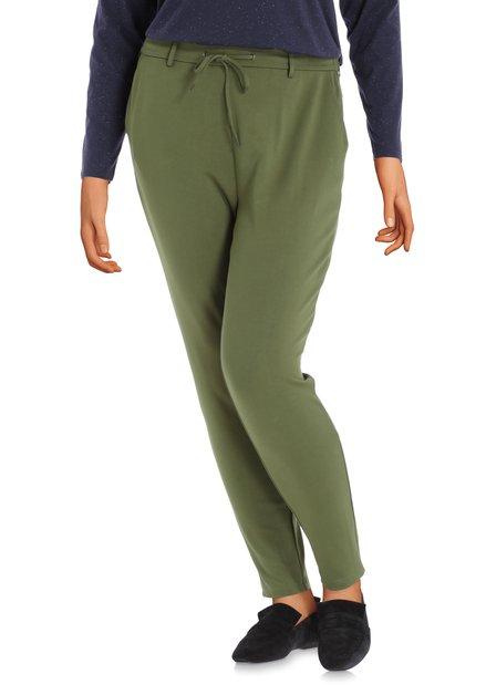 Pantalon vert olive avec ceinture élastique