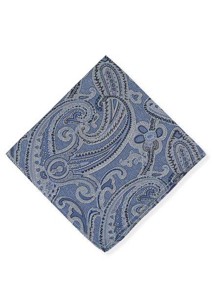 Pochet met blauwe paisley print