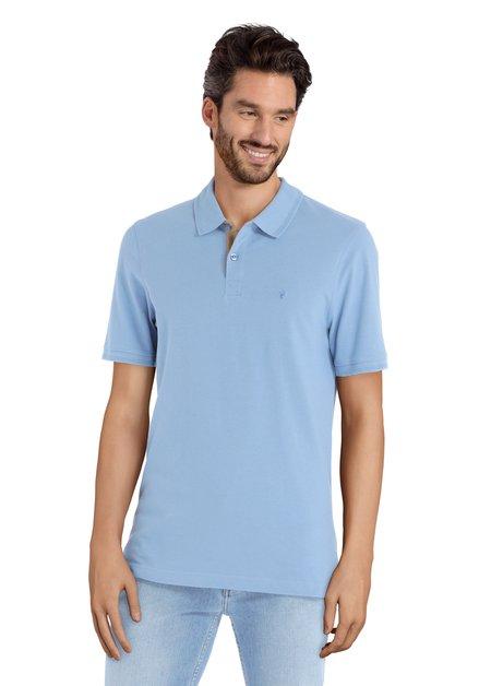 Polo bleu clair à manches courtes