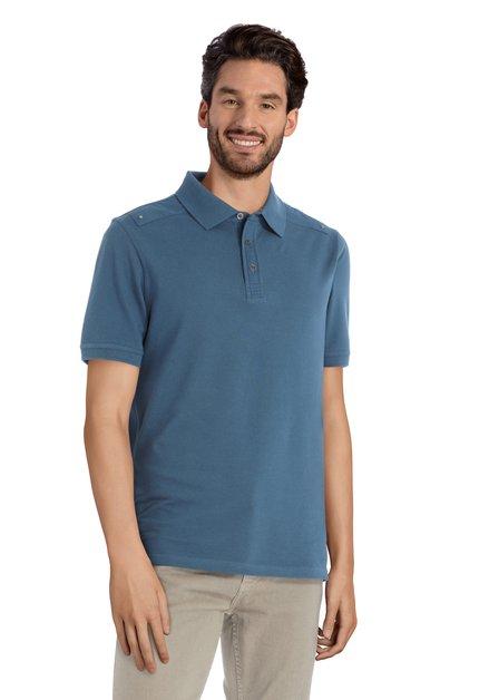 Polo bleu foncé à manches courtes