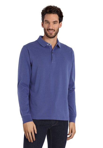 Polo en coton bleu moyen