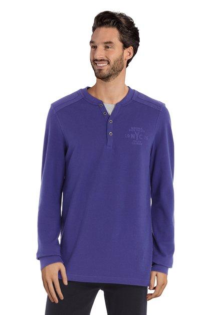 Polo en coton violet