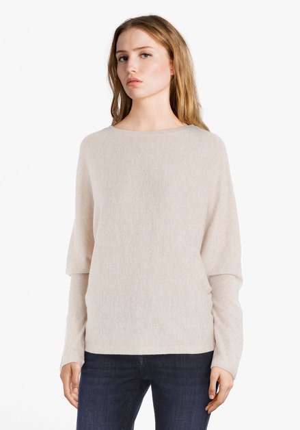 Pull beige clair avec boutons