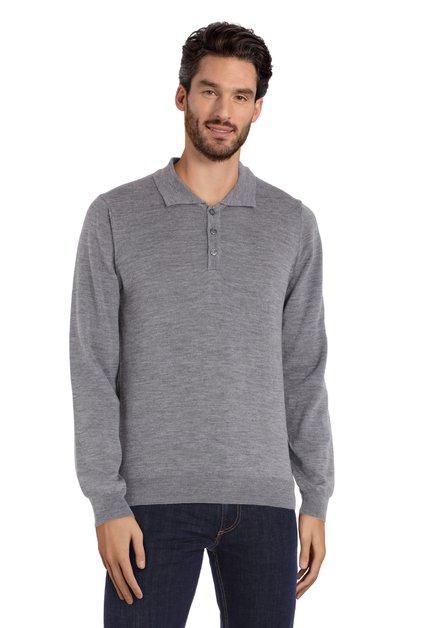 Pull en laine mérinos gris clair