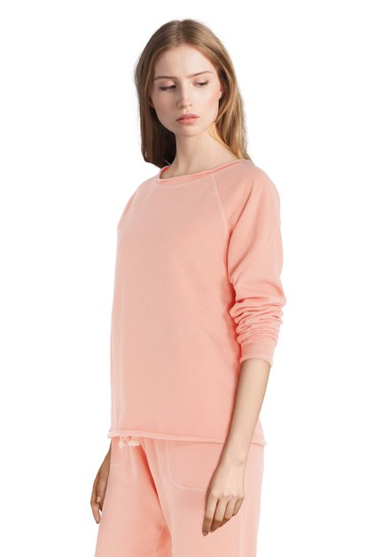 Pull rose saumon avec col rond