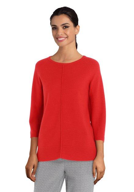 Pull rouge à laine