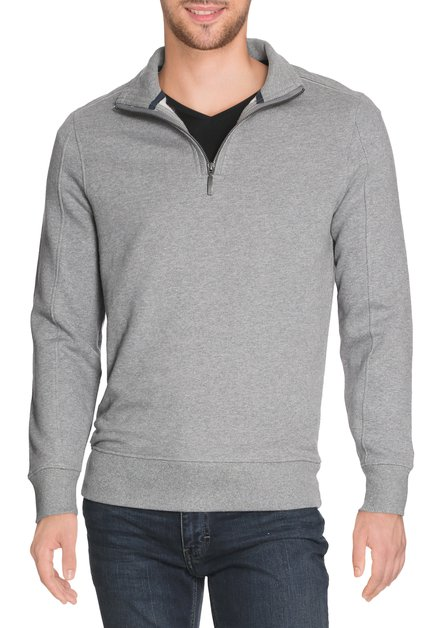 "Pull ""sweater"" gris avec col montant"