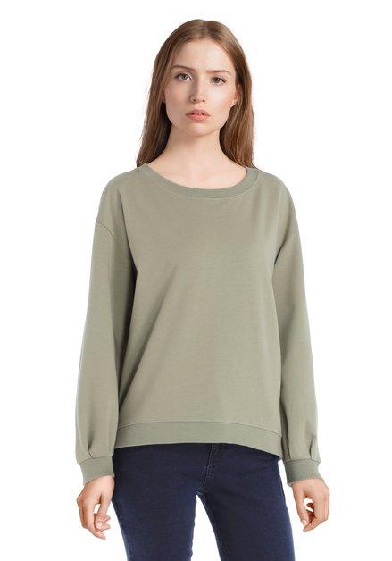Pull vert à manches à plis