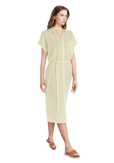 Robe à rayures blanches et jaunes