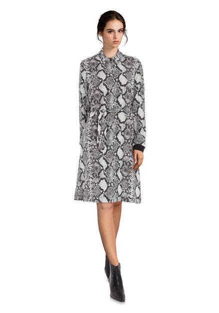 Robe noire à imprimé léopard