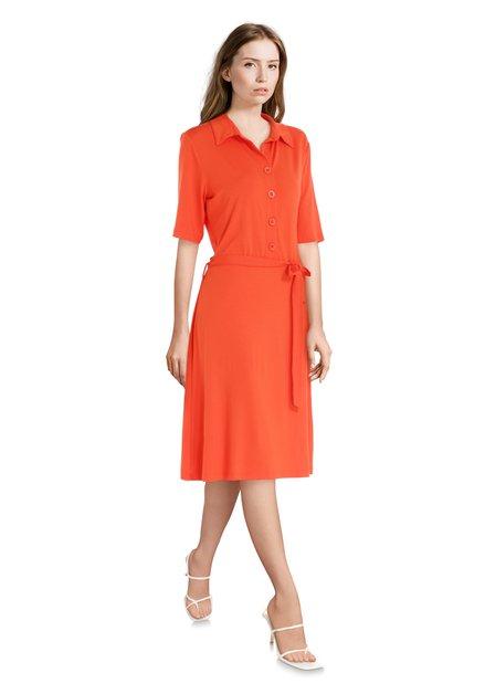 Robe rouge/orange avec ruban