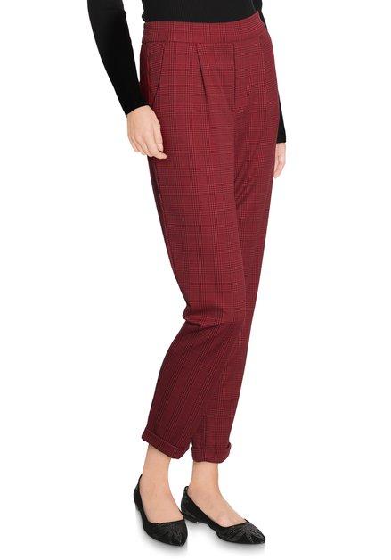Rode geruite broek - slim fit