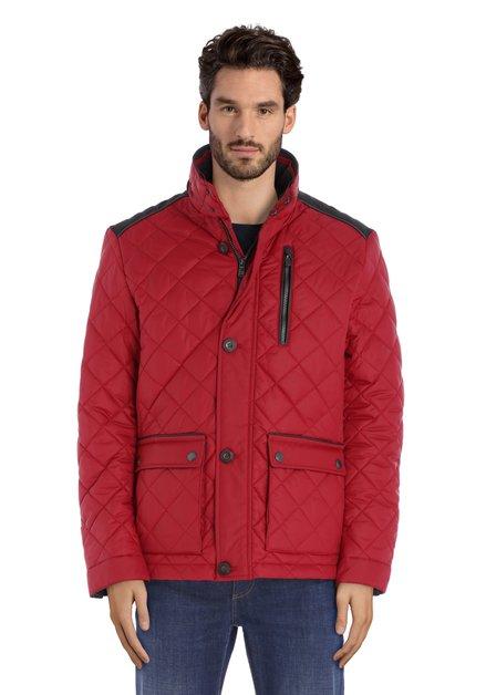 Rode gewatteerde jas