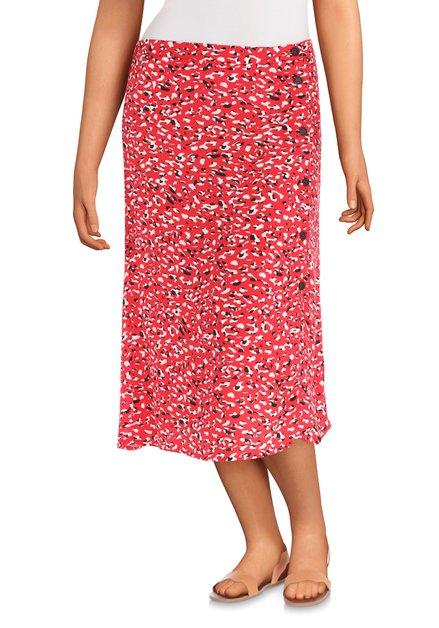 Rode rok met zwart-witte print
