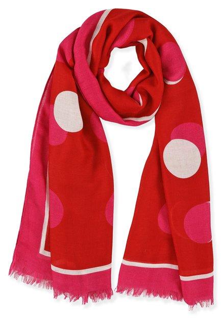 Rode sjaal met bollen