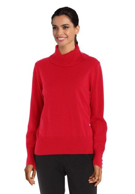 Rode trui met rolkraag
