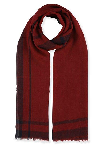 Rode wollen lichte sjaal