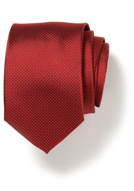 Rode zijden das met witte stipjes