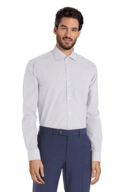 Rood-blauw hemd met motief – Romelu - regular fit