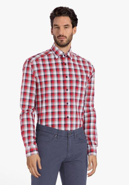 Rood geruit hemd – comfort fit