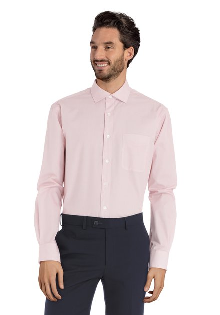 Rood hemd met miniprint – Claudio - comfort fit