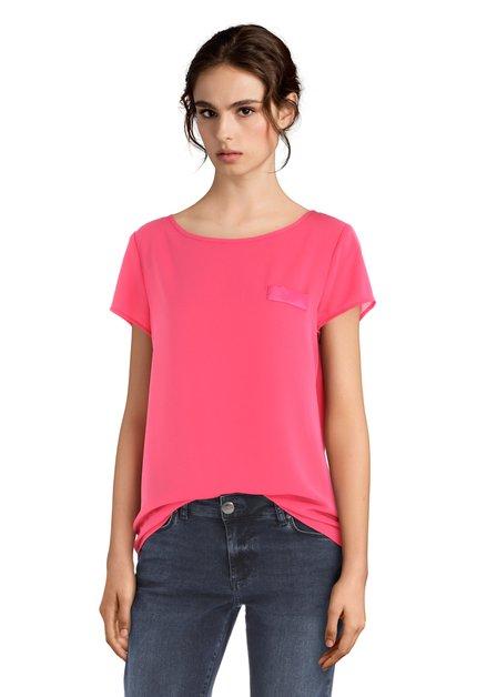 Roze blouse met korte mouwen