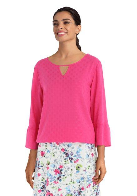 Roze blouse met stippen