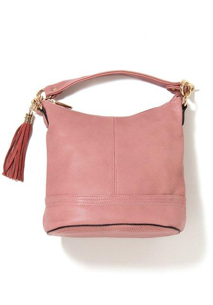 Roze neplederen handtas