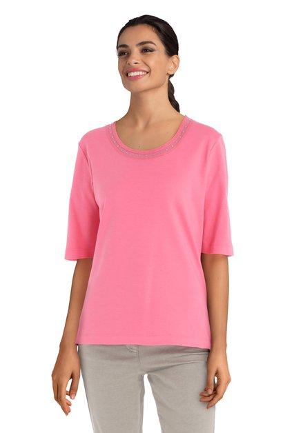 Roze T-shirt met steentjes