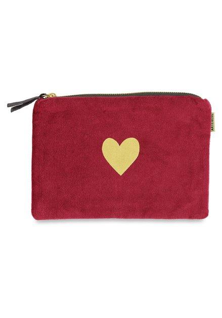 Roze tas met goudkleurig hartje