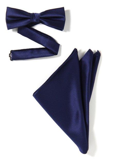Set van 2: navy strikdas en pochet