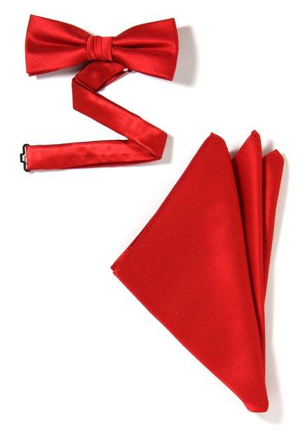 Set van 2: rode strikdas en pochet