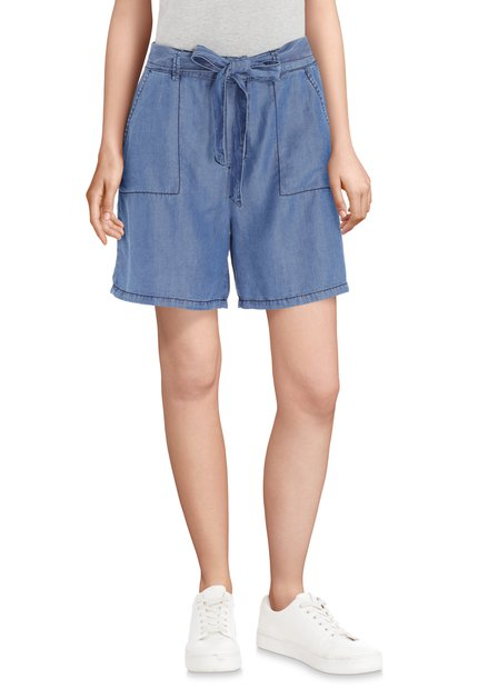 Short denim en lyocell