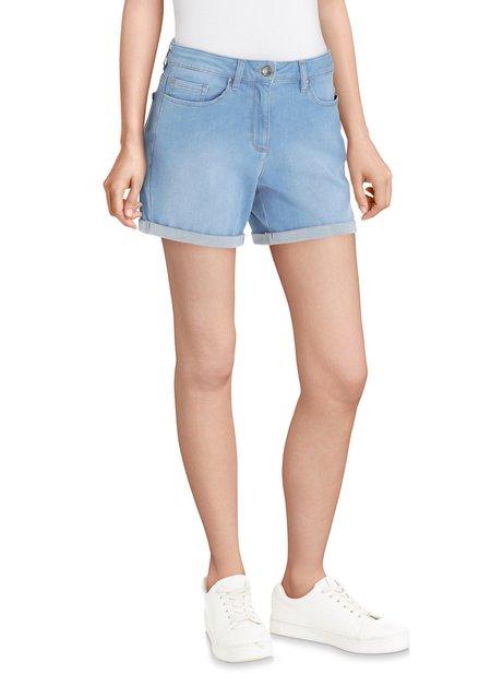 Short en jean bleu clair