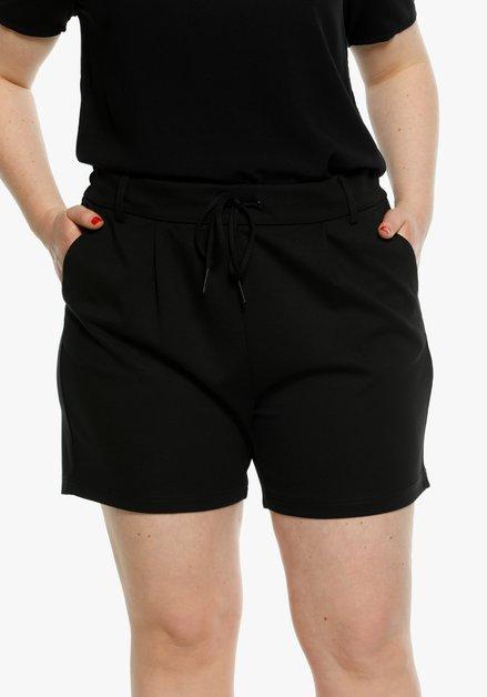 Short noir à taille élastique