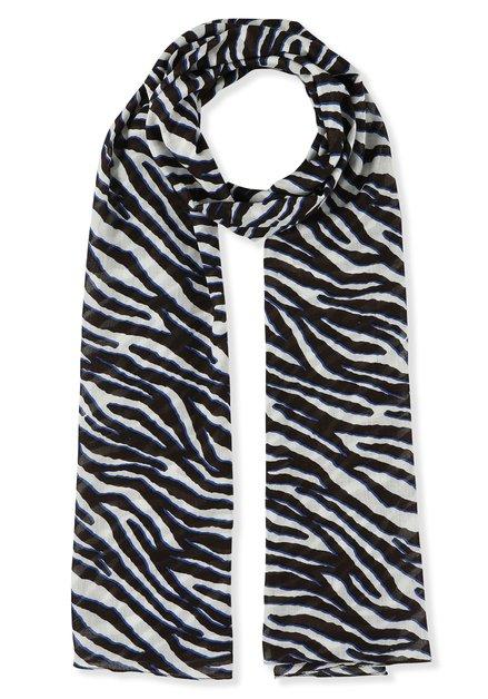 Sjaal met bruine zebraprint