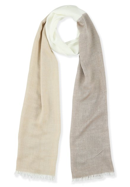 Sjaal met drie kleurvlakken