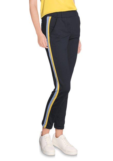 Sportieve broek met blauw-gele strepen