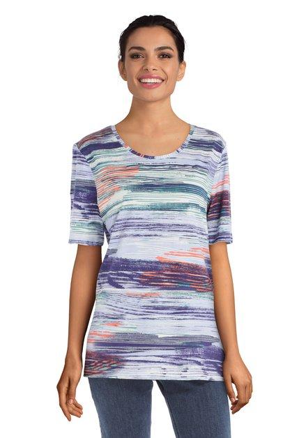 T-shirt à motif ligné et coloré