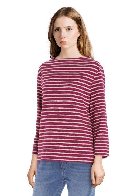 T-shirt à rayures rose en jersey