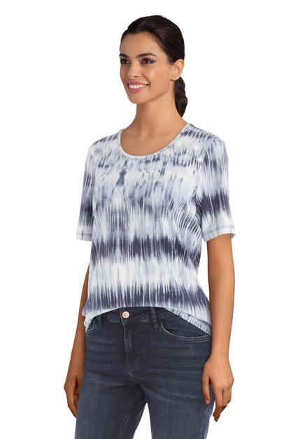 T-shirt avec effet taches bleues et blanches