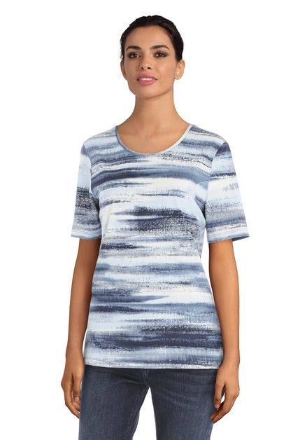 T-shirt avec lignes bleues et blanches