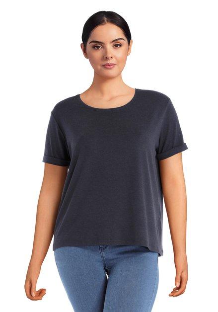 T-shirt basique bleu foncé
